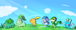 Sky's Favorite Starter Pokemon by Rainbow-Skybird