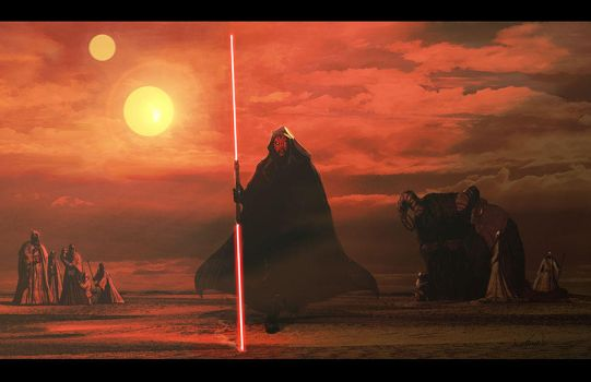 Darth Maul on Tatooine by LivioRamondelli