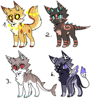 CLOSED - Canines Adoptables 423 by LeaAdoptables