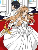 Sword Art Online kirito and asuna wedding by kevin7788516