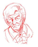Third Doctor tablet PC quick sketch by ElfSong-Mat