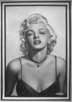 Marilyn Monroe portrait by gdvectors