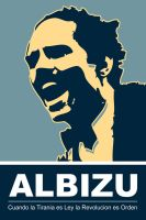 Albizu - Blue Poster by exvoxdesigns