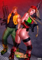 Cammy and Charlie version Cannon Spike by GGG85