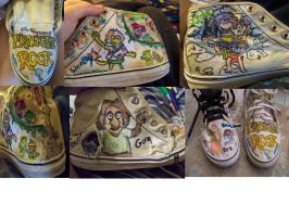 Fraggle Rock shoes by kelsibitch