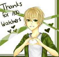 100 watchers! by RukiaOrihara