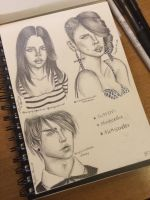Sims 3 Sketches by Quickytay