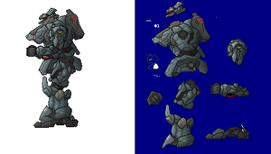 Giant robot sprite by PrinzEugn