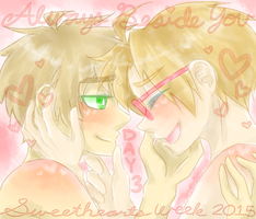 usuk :: sweethearts week // day 3 by CaptainJellyroll