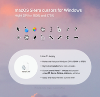 macOS Sierra Retina cursors by in-dolly