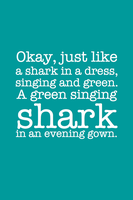 SPOILER - Green Singing Shark by inkandstardust