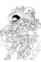 Battle Chasers by Guile my INKS by JamesLeeStone