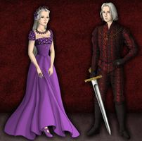 Viserys and Dany by alcanis-ivennil
