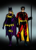 Batgirl and Robin by Stone-Fever