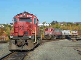 Four Old ALCO Diesels in Scranton by rlkitterman