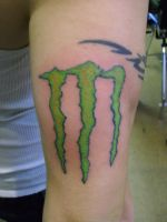 Monster Logo Tattoo by NarcissusTattoos