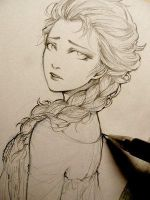 Elsa Drawing Originally by Mikaat xox by mikaat