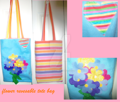flower revesable tote by pirionsflame