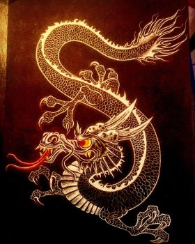 Japanese dragon by Jmairel