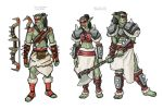 Red Clan Orc Concept Drawings by Pasiphilo
