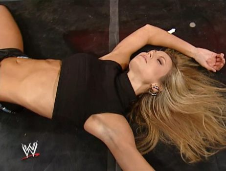 Stacy Keibler Unconscious 1 (Raw 01/20/2003) by ryko88
