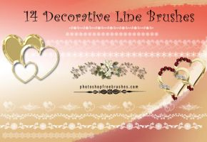 14 Beautiful Decorative Line Brushes by fiftyfivepixels
