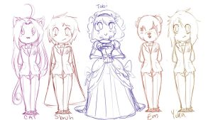 Tobi and Wives by Chibi-Works