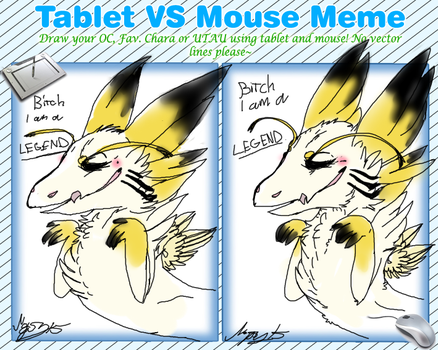 crappy tablet VS mouse meme by Nopsy