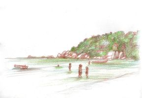 Thailand Drawing 2014 10 Koh Tao by JakobHansson