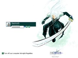 AC Sephiroth Logon Screen by snowwhite