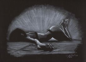 Girlsketch 009 white charcoal by Symyn240