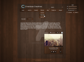 Classic wood based template | Upcoming by OverdozeCreatives