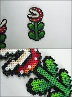 Super Mario Venus Fly Trap bead sprite by 8bitcraft