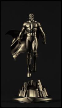 Superman bronze by AYsculpture