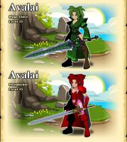 Red and Green by Avalai