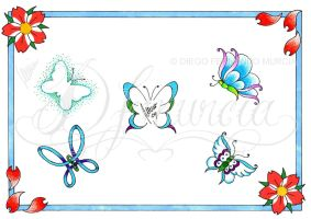 Butterfly flash sheet -color- by dfmurcia
