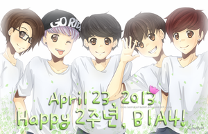 Happy 2nd Anniversary B1A4 by harukatsune