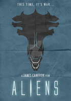 Aliens (1986) - Minimalist Poster by Stormy94