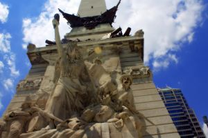 Monument Circle Statue by MysteryWoman101