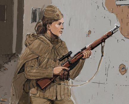 girl sniper by JesusFood