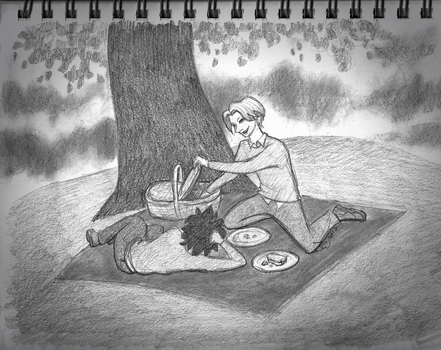 Picnicking Together (Drarry art challenge #4) by past-liam