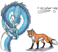 The Dragon and the Fox by katanisk