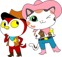 Deputy Peck and Sheriff Callie by HeinousFlame