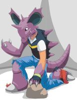 ash tf into nidoking by 455510