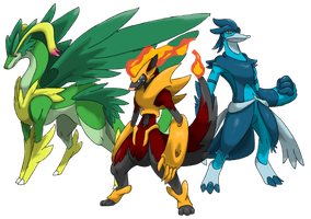Outregis Fakemon: Outregis starters by DeeJaysArt1993
