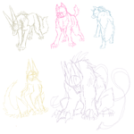 Poses by Anuwolf