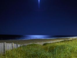 The Effect of the Full Moon Over Dewey Beach by CherShow