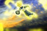 goku for the final blow by Ozzlander