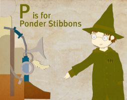 P is for Ponder Stibbons by whosname
