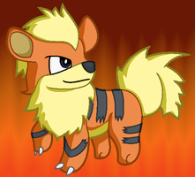 Growlithe by SHINXxPOOCHYENA